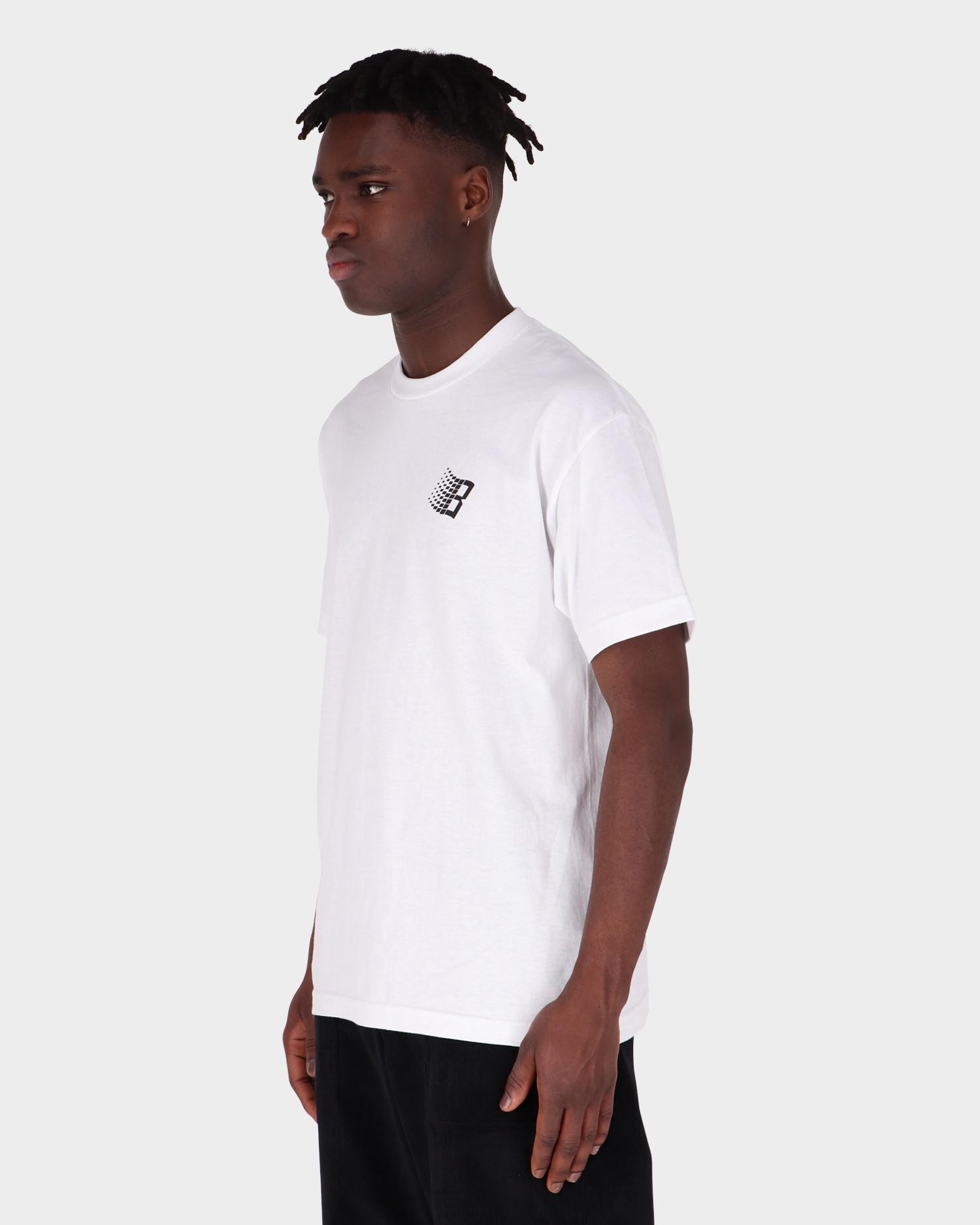 Bronze Smiley B Logo Tee Back & Front Print White