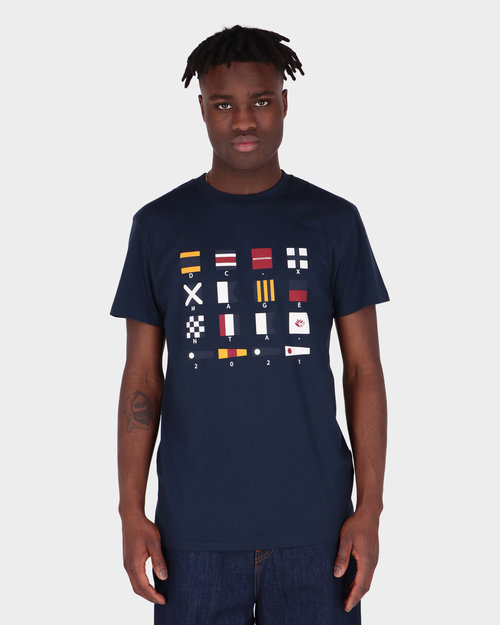 DC x Magenta DC X Magenta Tee Flags Navy Blazer