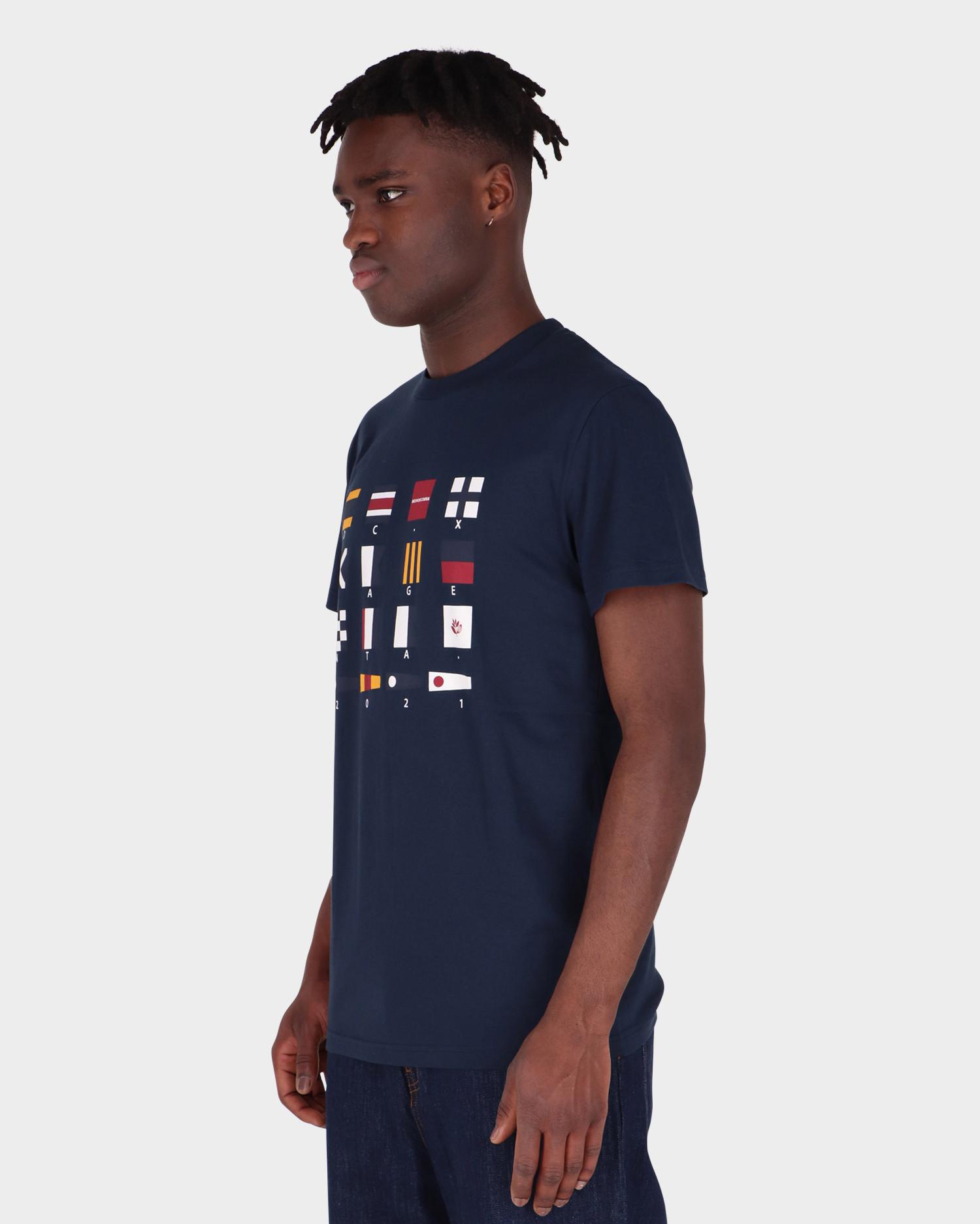 DC X Magenta Tee Flags Navy Blazer
