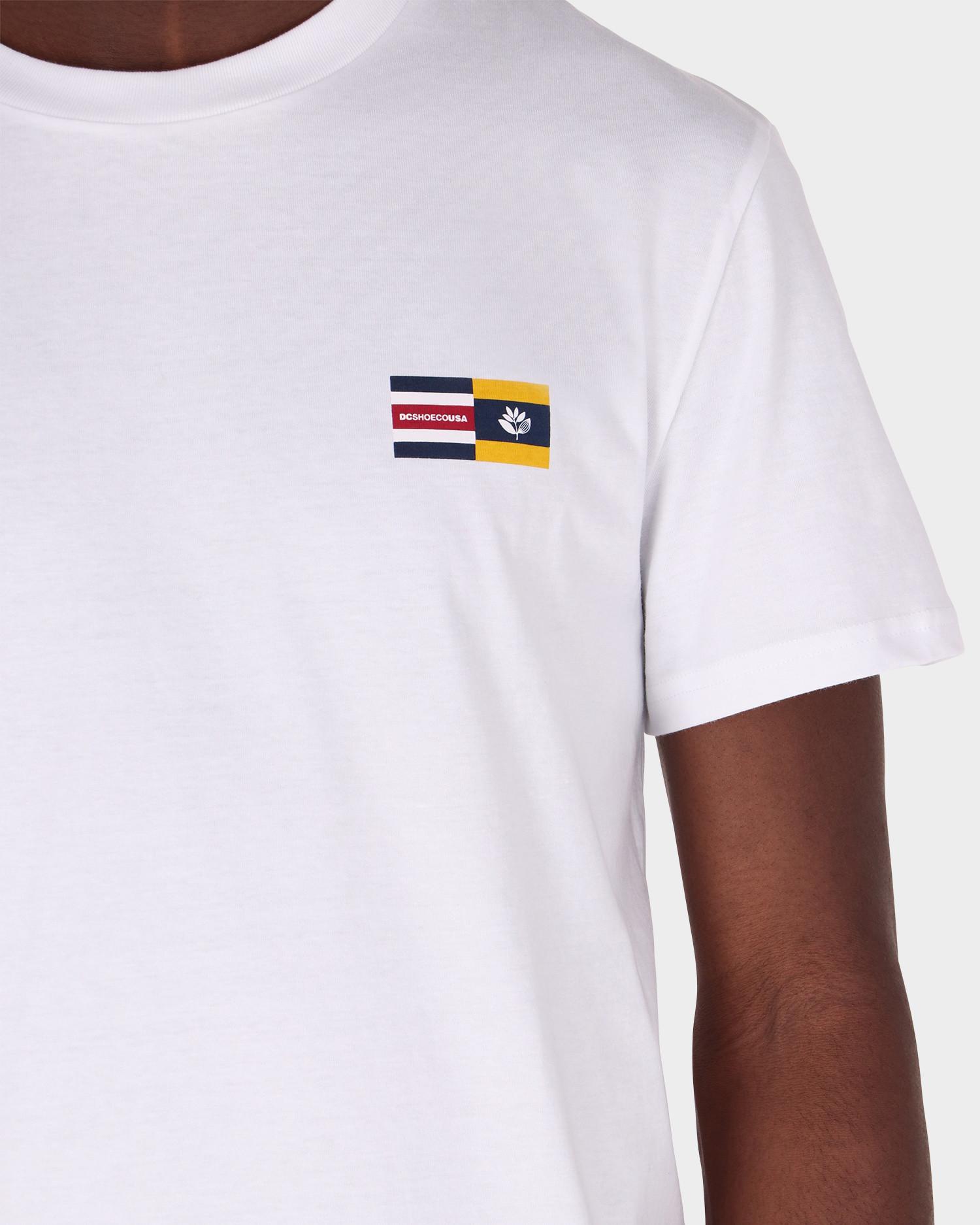 DC x Magenta Tee Nautical Chest Logo White