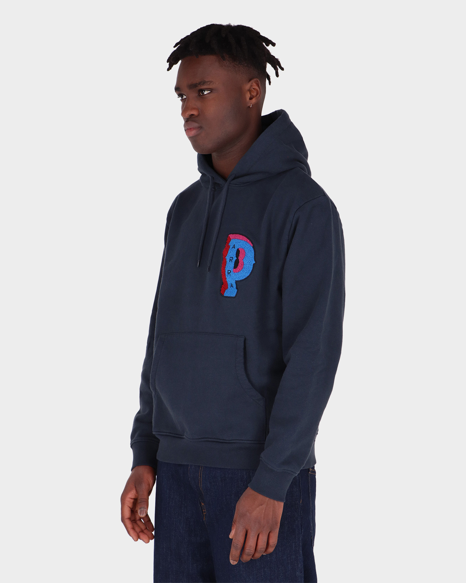Parra Dropped Out Hooded Sweatshirt Navy