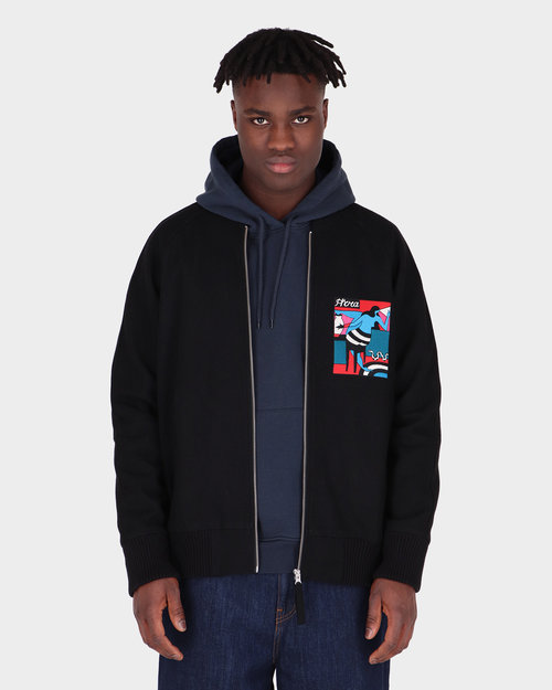 Parra Parra Bar Messy Wool Jacket Dark Navy