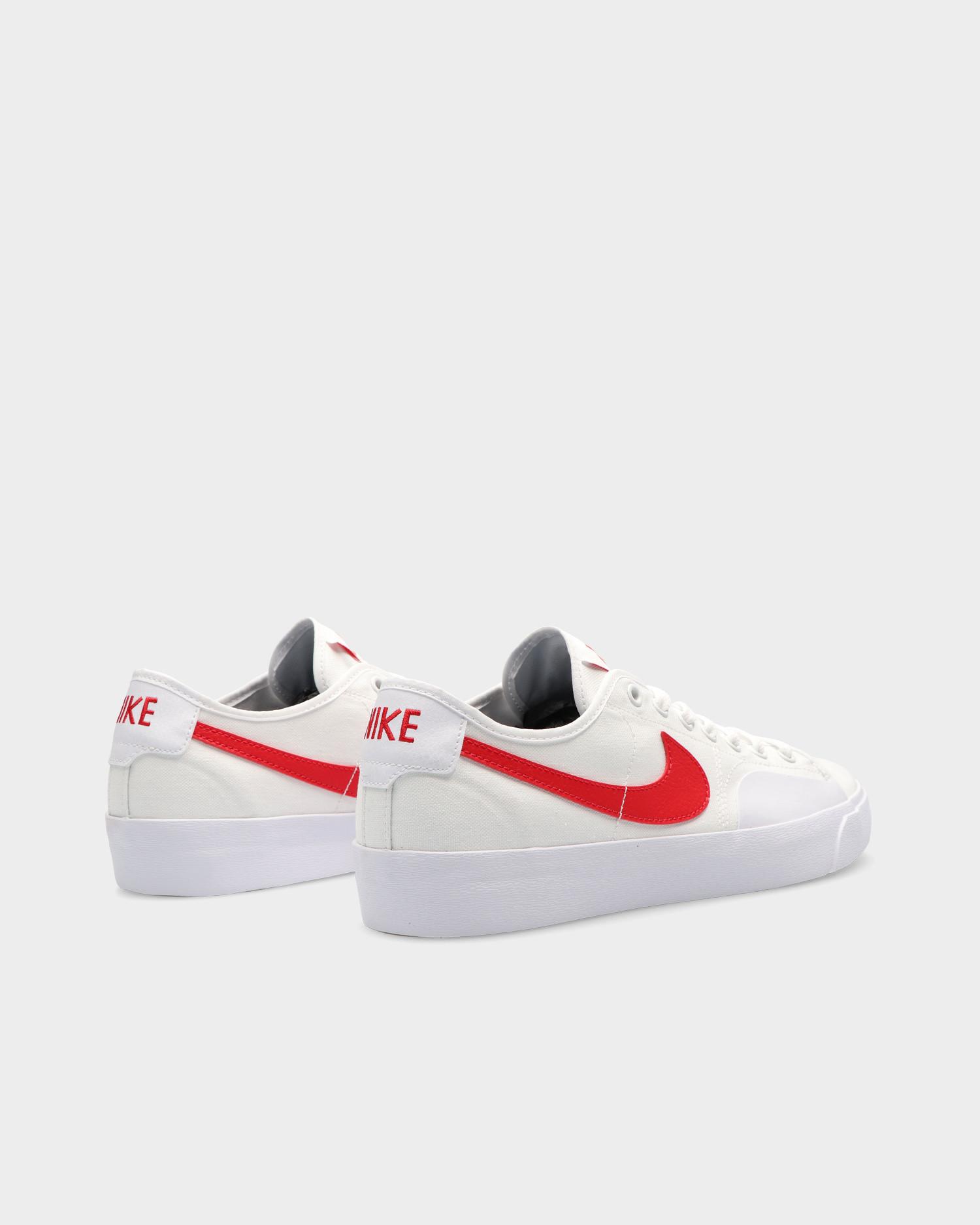 Nike SB Blazer Court White/University Red-White-Black