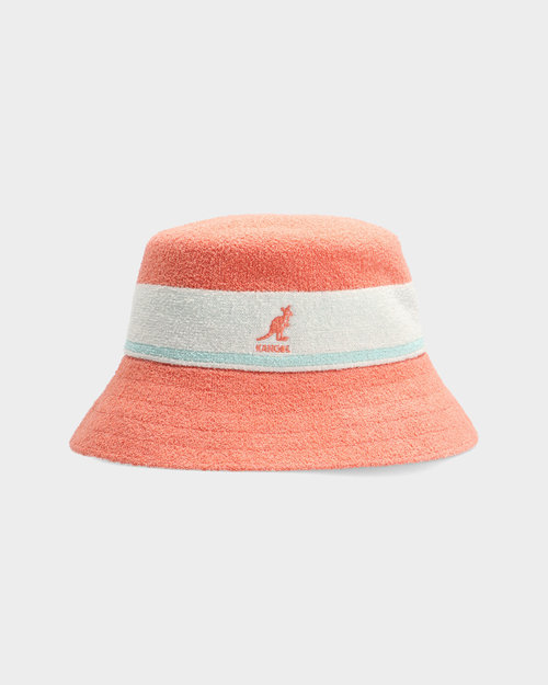 Kangol Kangol Bermuda Stripe Bucket Peach