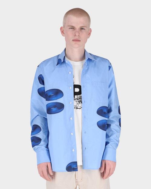Pop Trading Co Pop Thomas Van Rijs Shirt Light Blue