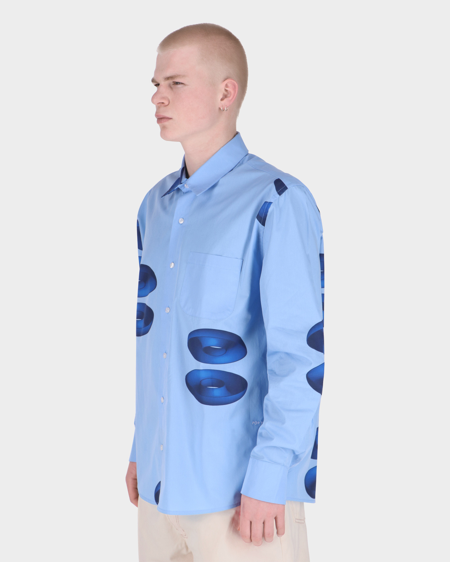 Pop Thomas Van Rijs Shirt Light Blue