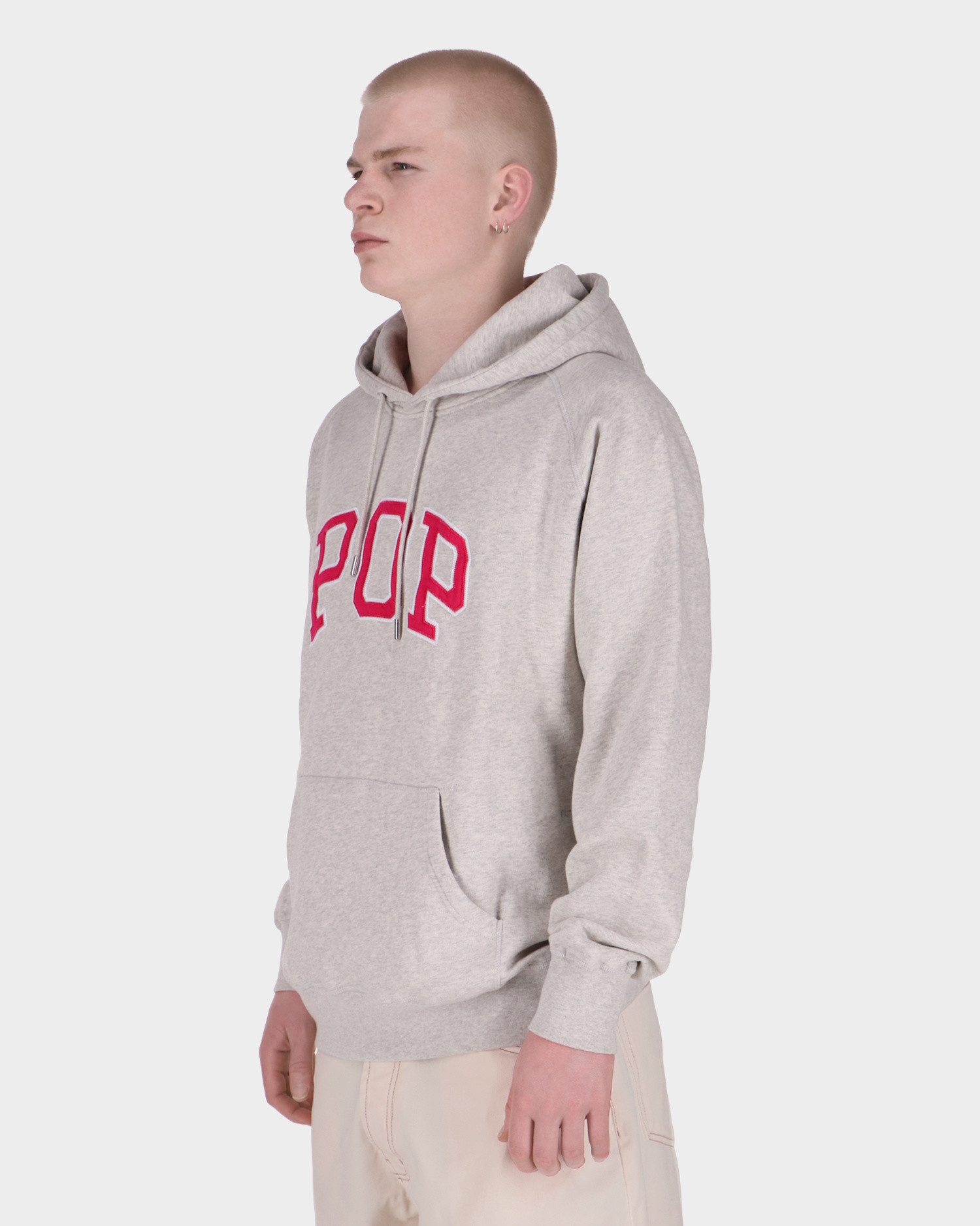 Pop Arch Hooded Sweat Offwhite Heather