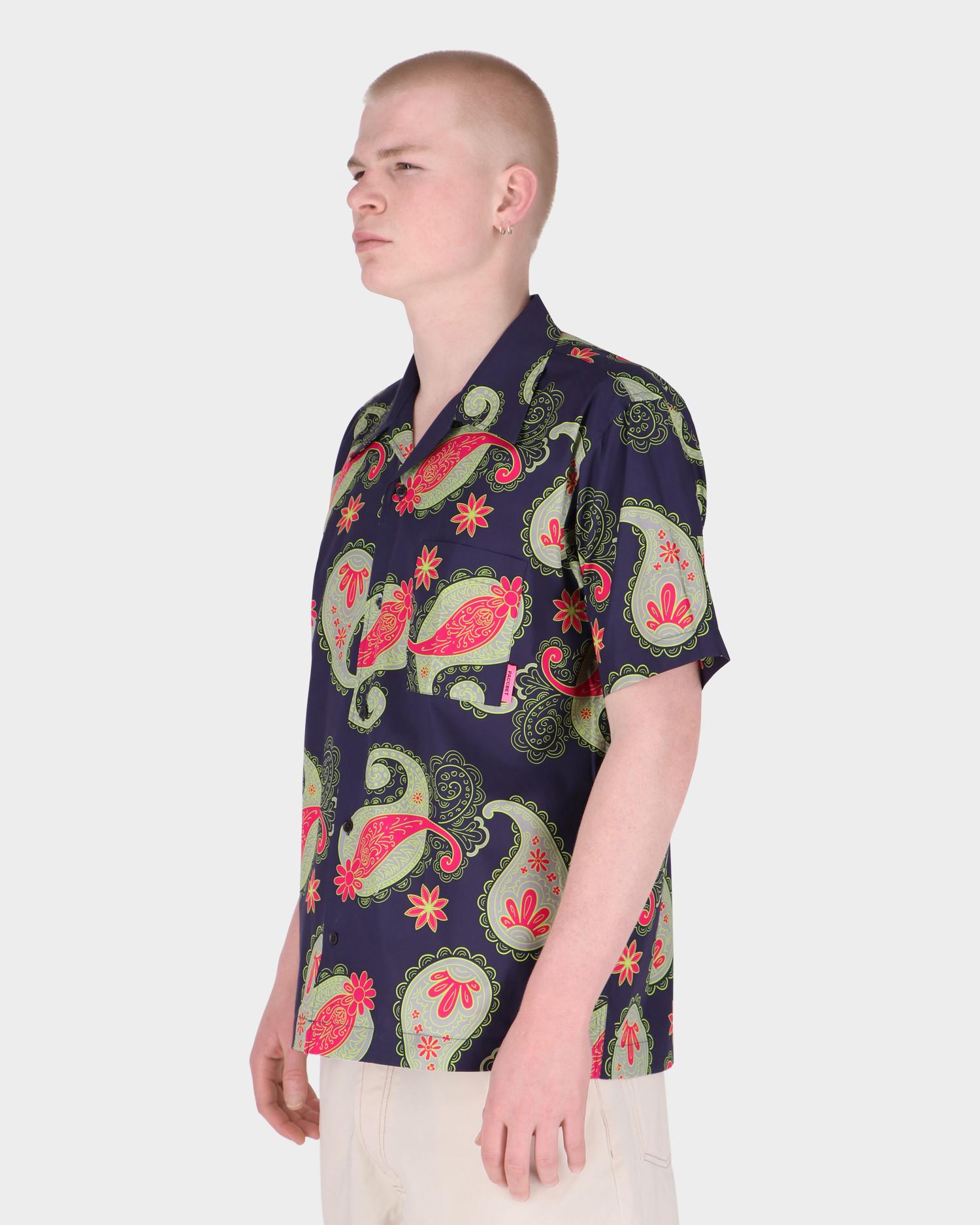 Paccbet Men's Printed Poplin Shirt Paisley