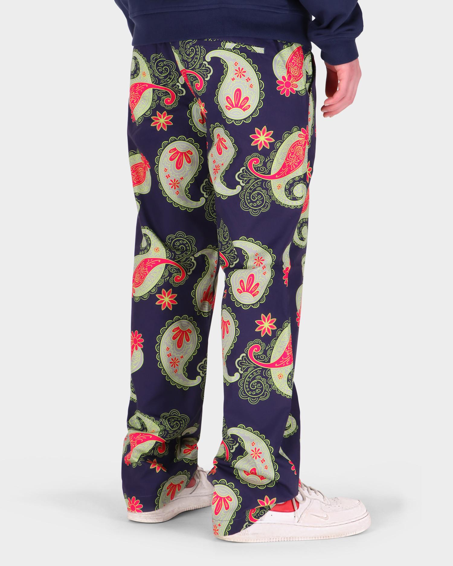 Paccbet Men's Printed Poplin Pants Paisley