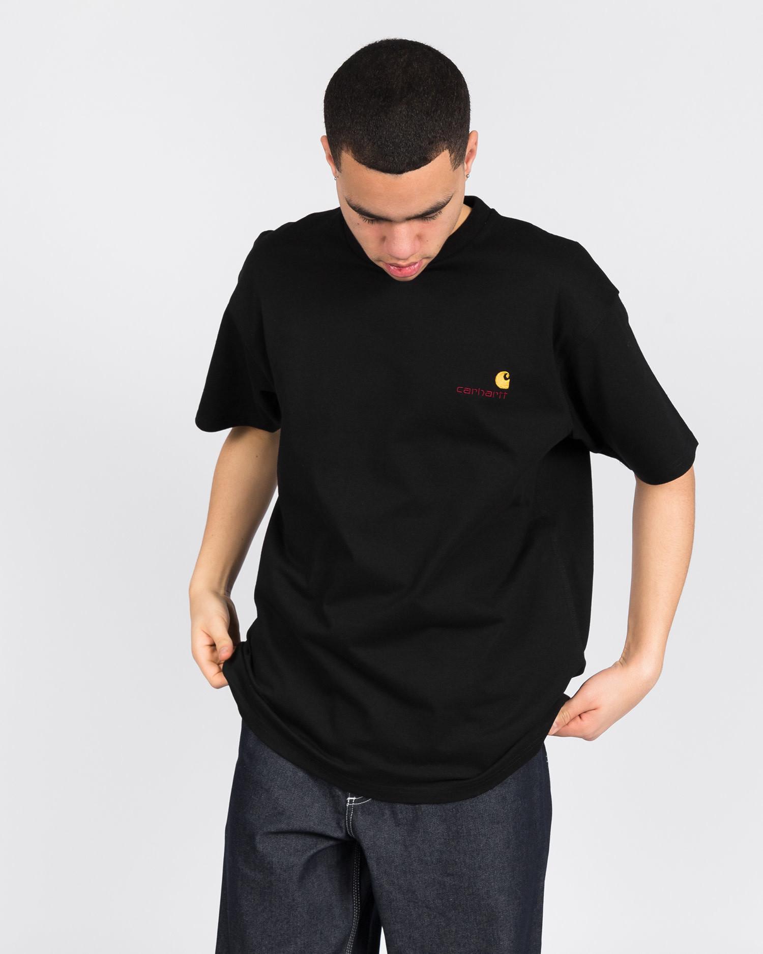 Carhartt American Script T-Shirt Black