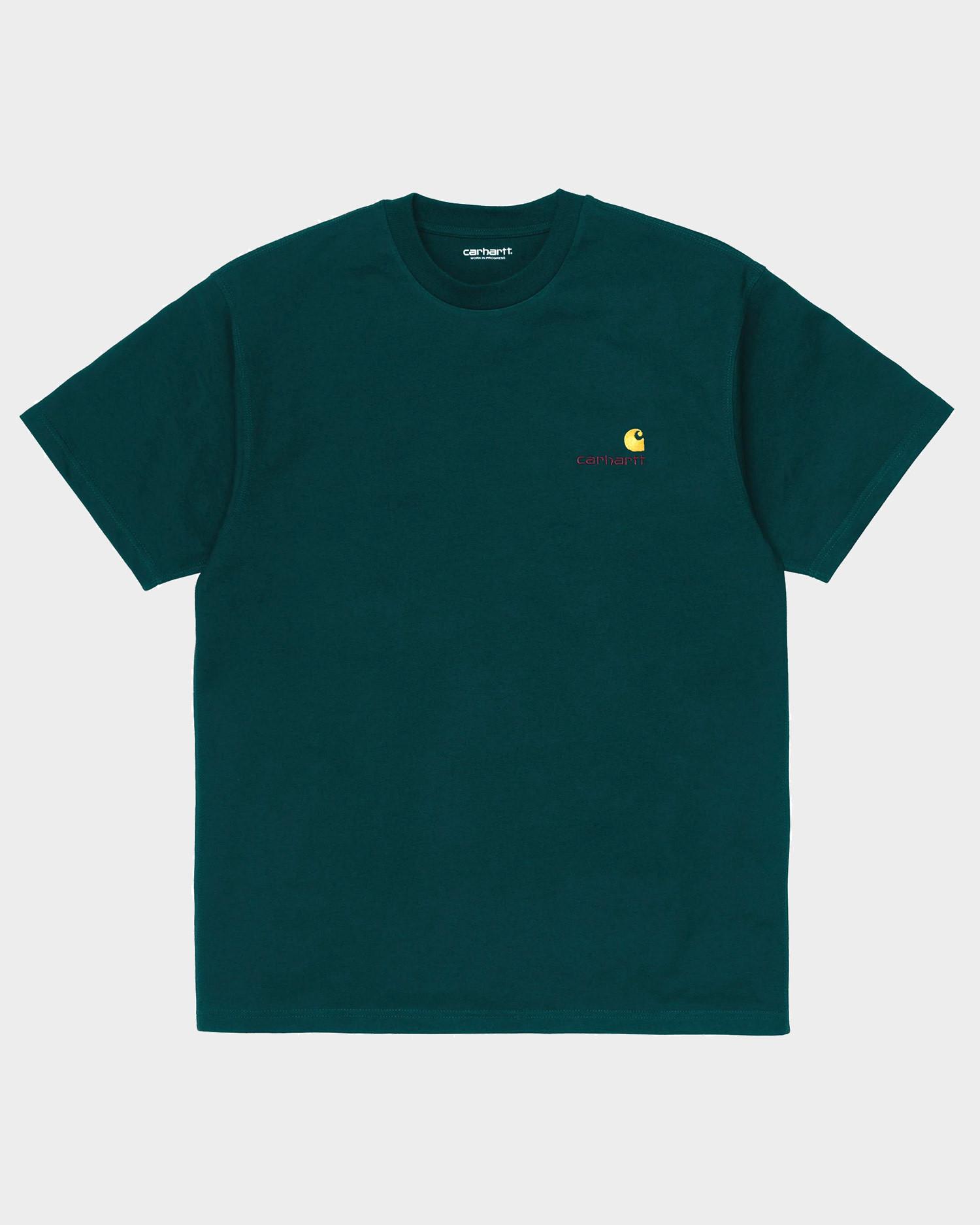 Carhartt American Script T-Shirt Deep Lagoon
