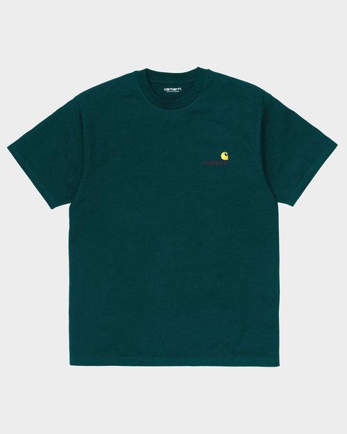Carhartt Carhartt American Script T-Shirt Deep Lagoon