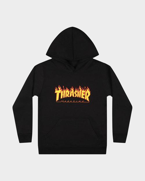 Thrasher Thrasher Youth Flame Hoodie Sweat Black