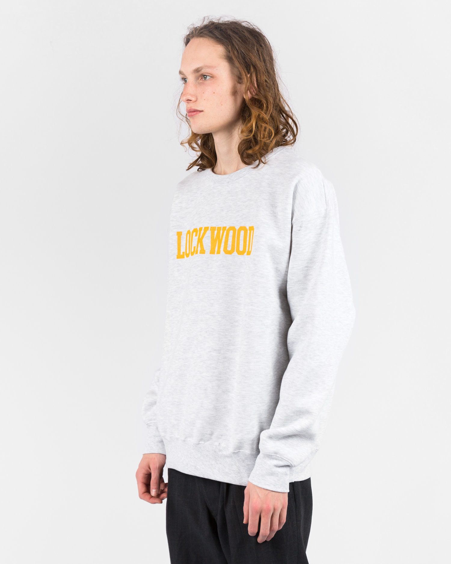 Lockwood CREW Sweater Script Grey/Yellow