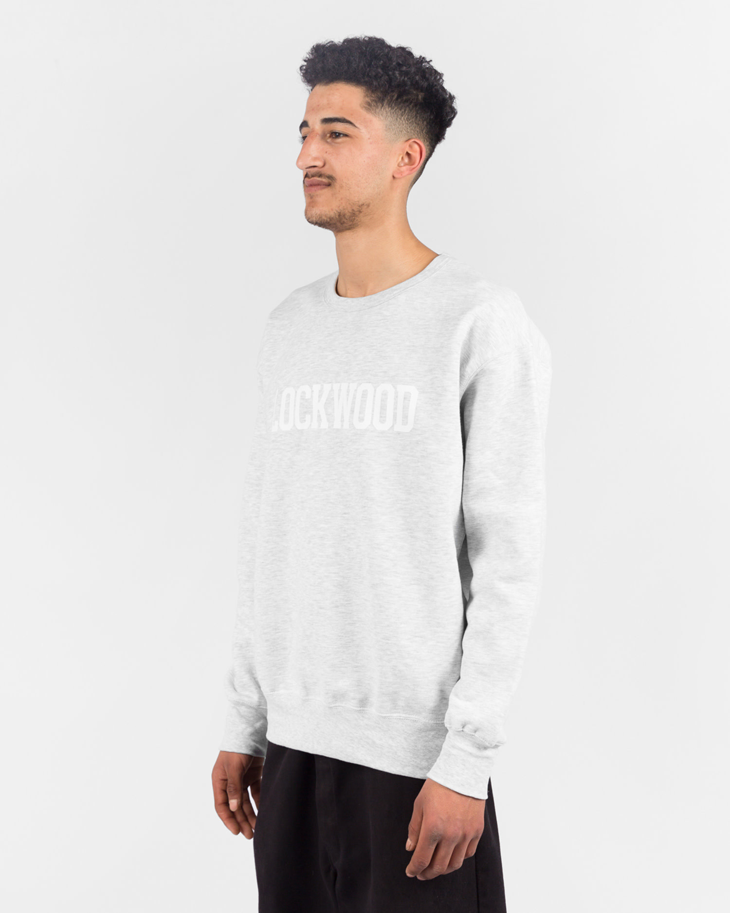 Lockwood OG Varsity Crewneck Grey/White