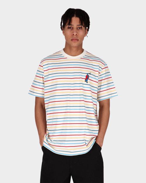Parra Parra staring striped t-shirt multi