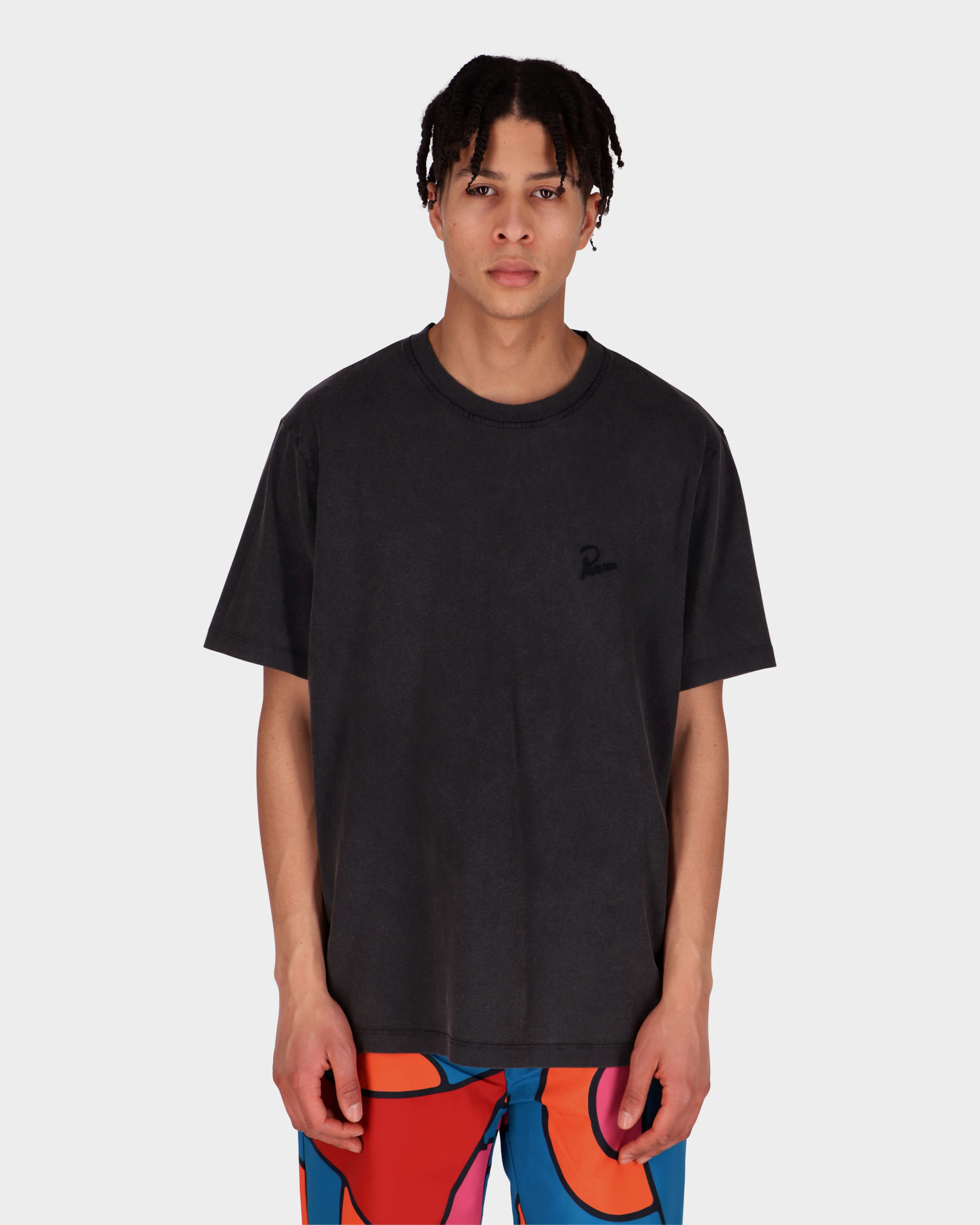 Parra washed out logo t-shirt washed black