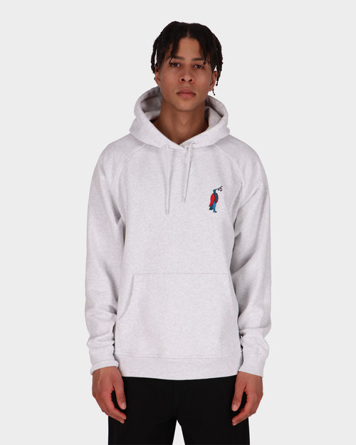 Parra Parra staring hooded sweatshirt Ash Grey