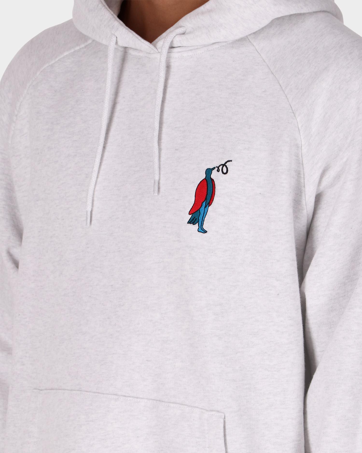 Parra staring hooded sweatshirt Ash Grey