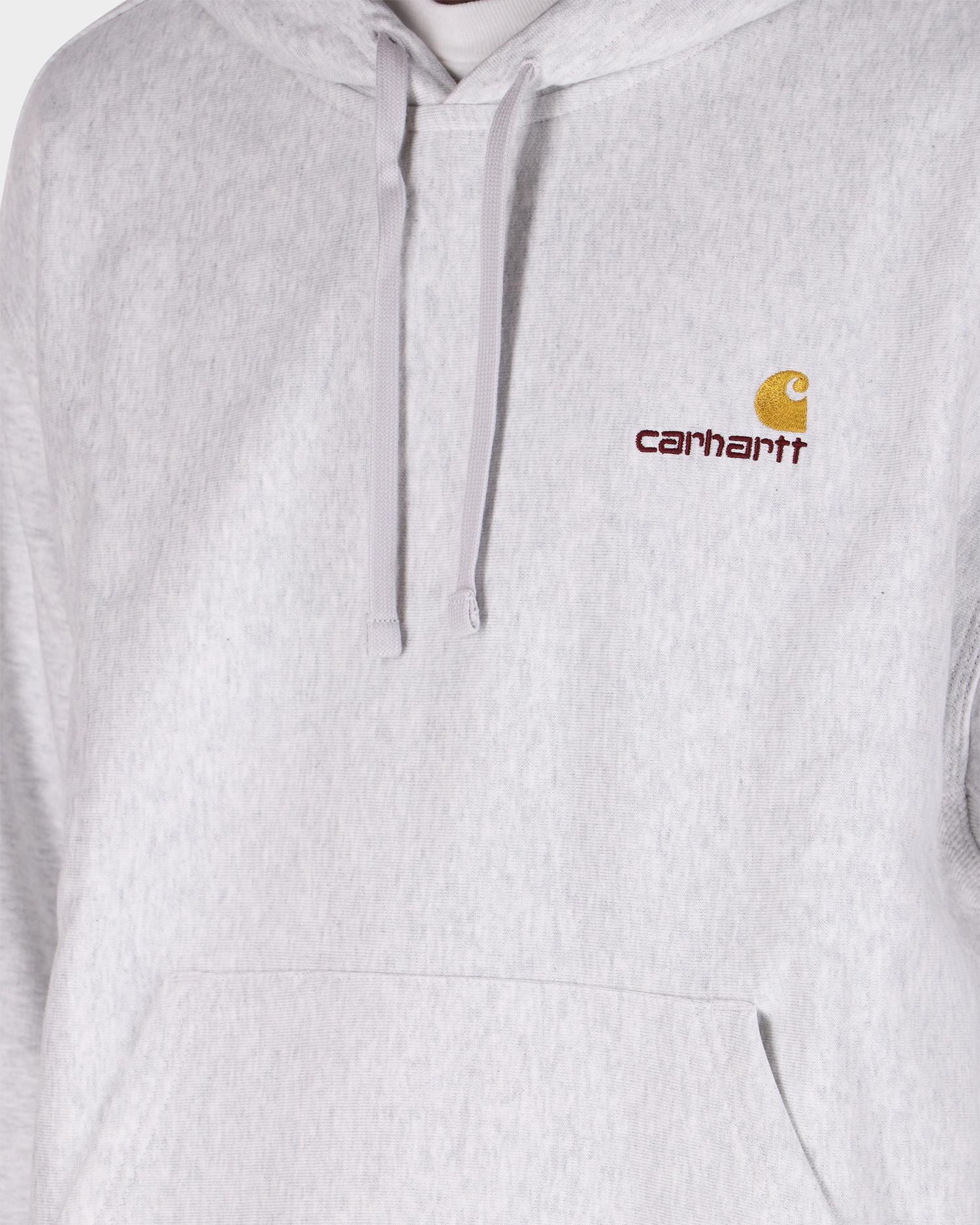 Carhartt Hooded American script sweater Ash Heather