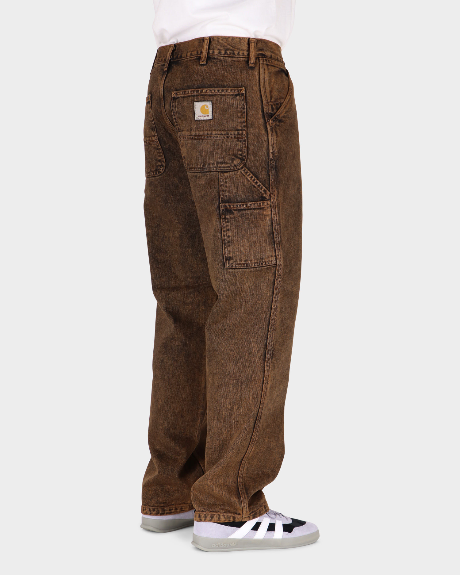 Carhartt Single Knee pant Rum Crater Wash