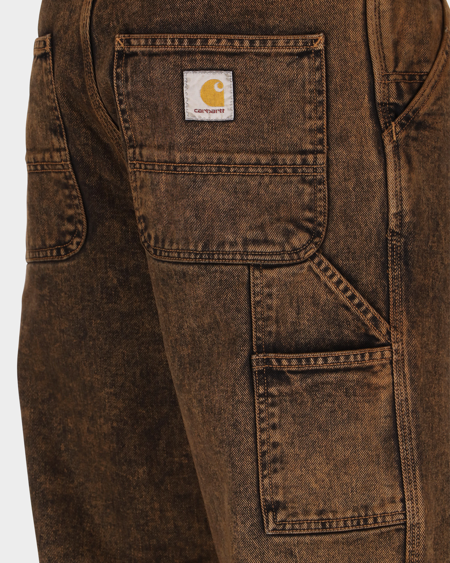 Carhartt Single Knee pant Rum Crater Wash