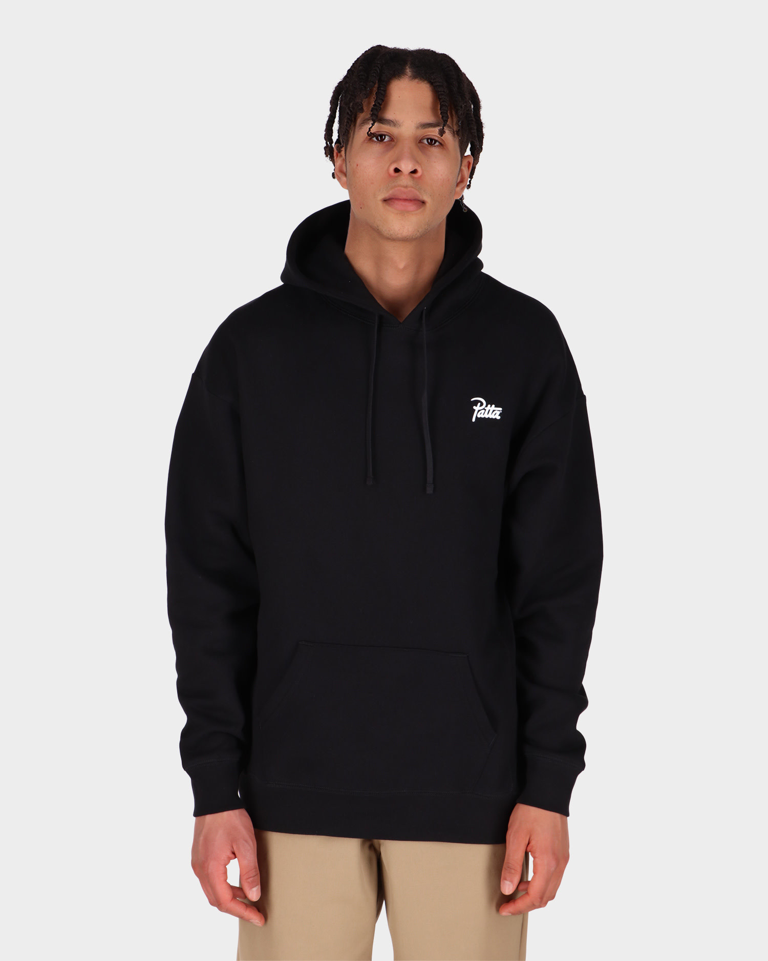 Patta Basic Summer Hooded Sweater Black