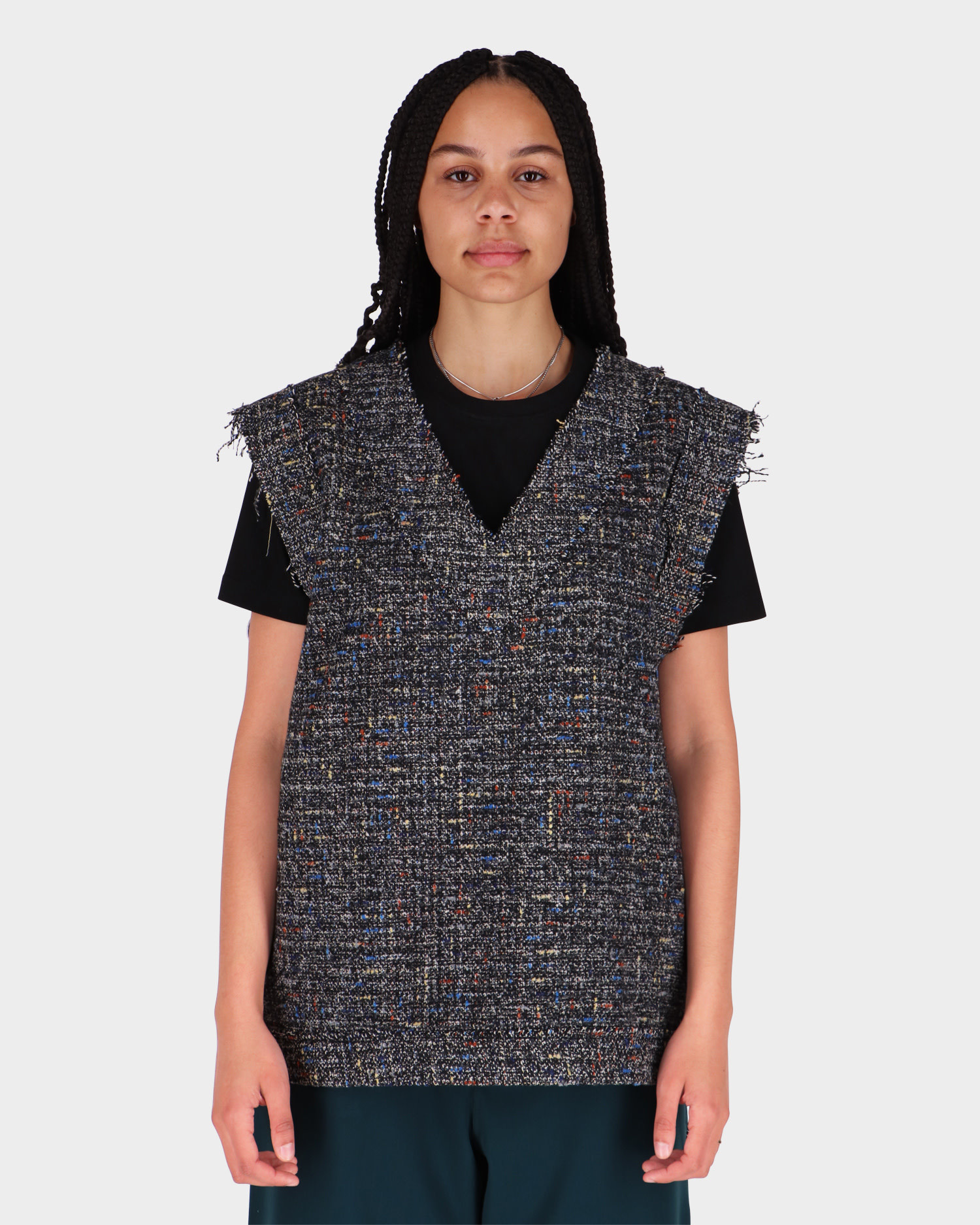 Neige Boucle Vest Grey/Multi