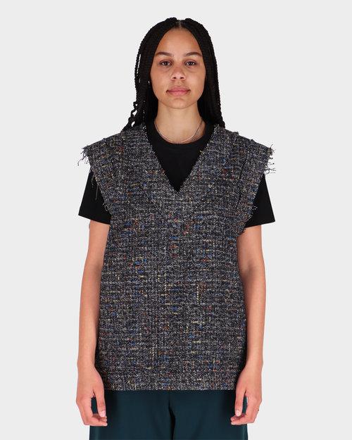 NEIGE Neige Boucle Vest Grey/Multi