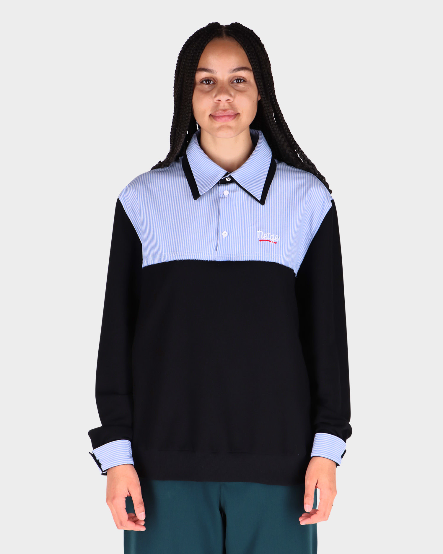 Neige Shirt Top Black/Blue
