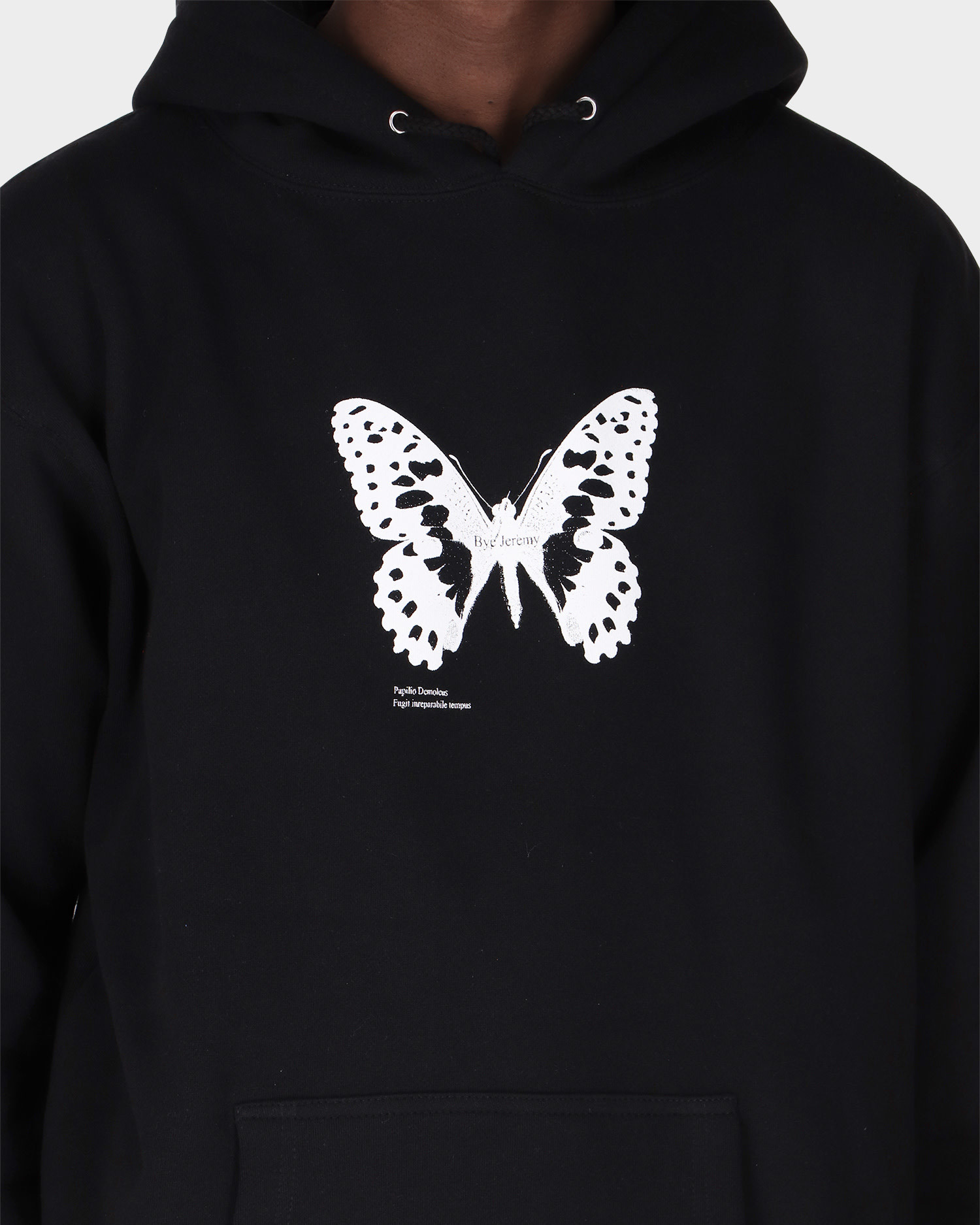 Bye Jeremy Butterfly Hoodie Black