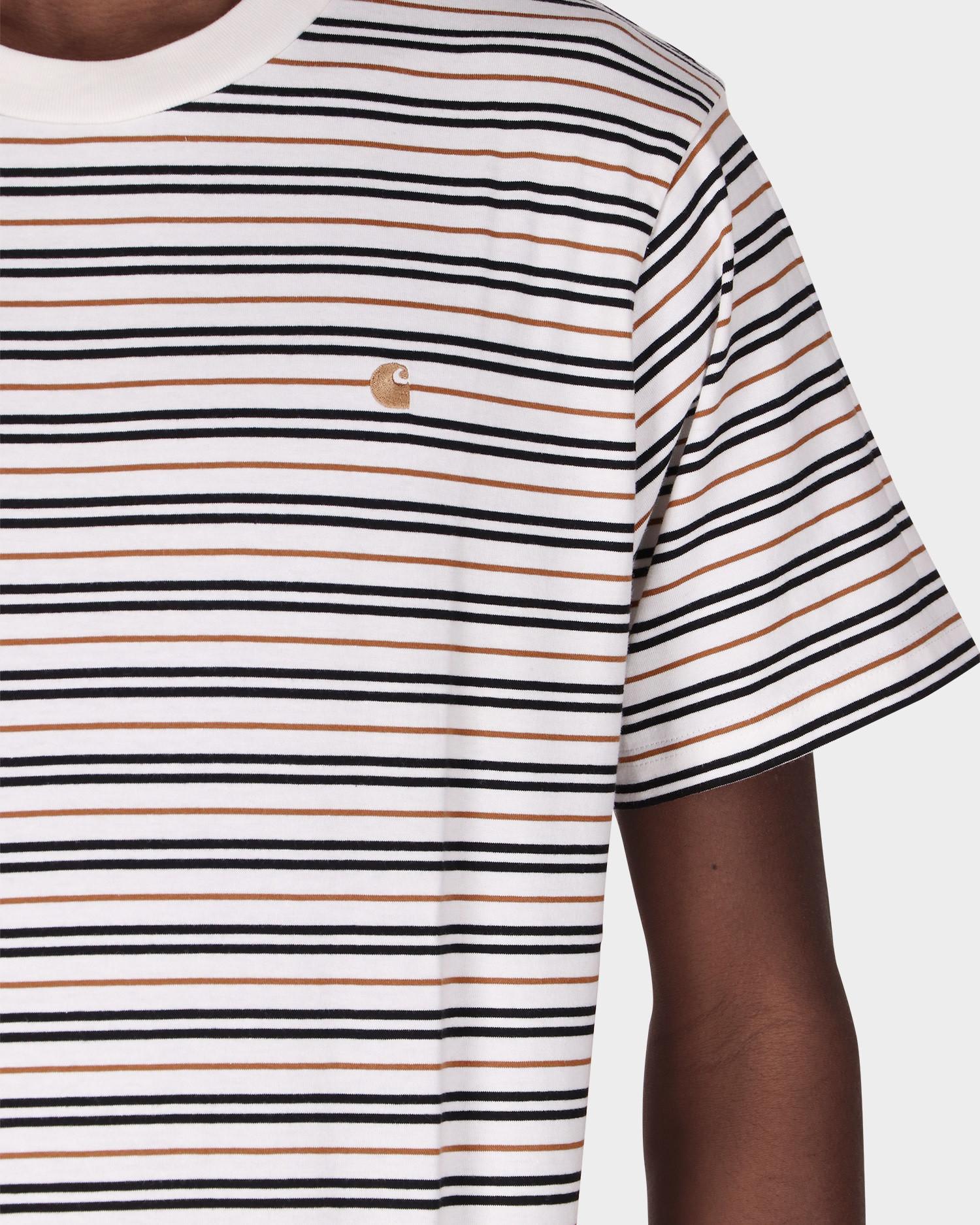 Carhartt Shortsleeve Akron T-Shirt Stripe/Wax