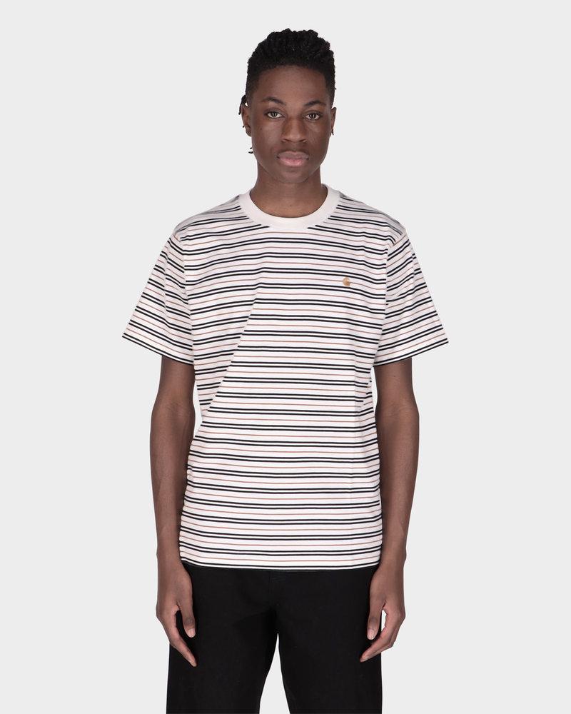 Carhartt Carhartt Shortsleeve Akron T-Shirt Stripe/Wax