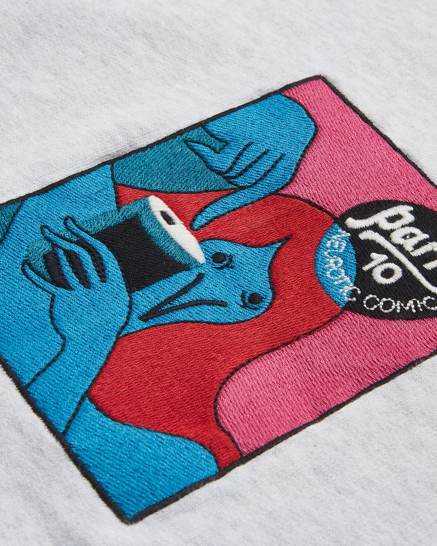 Parra Neurotic Comic Crew Neck Sweatshirt  Ash Grey