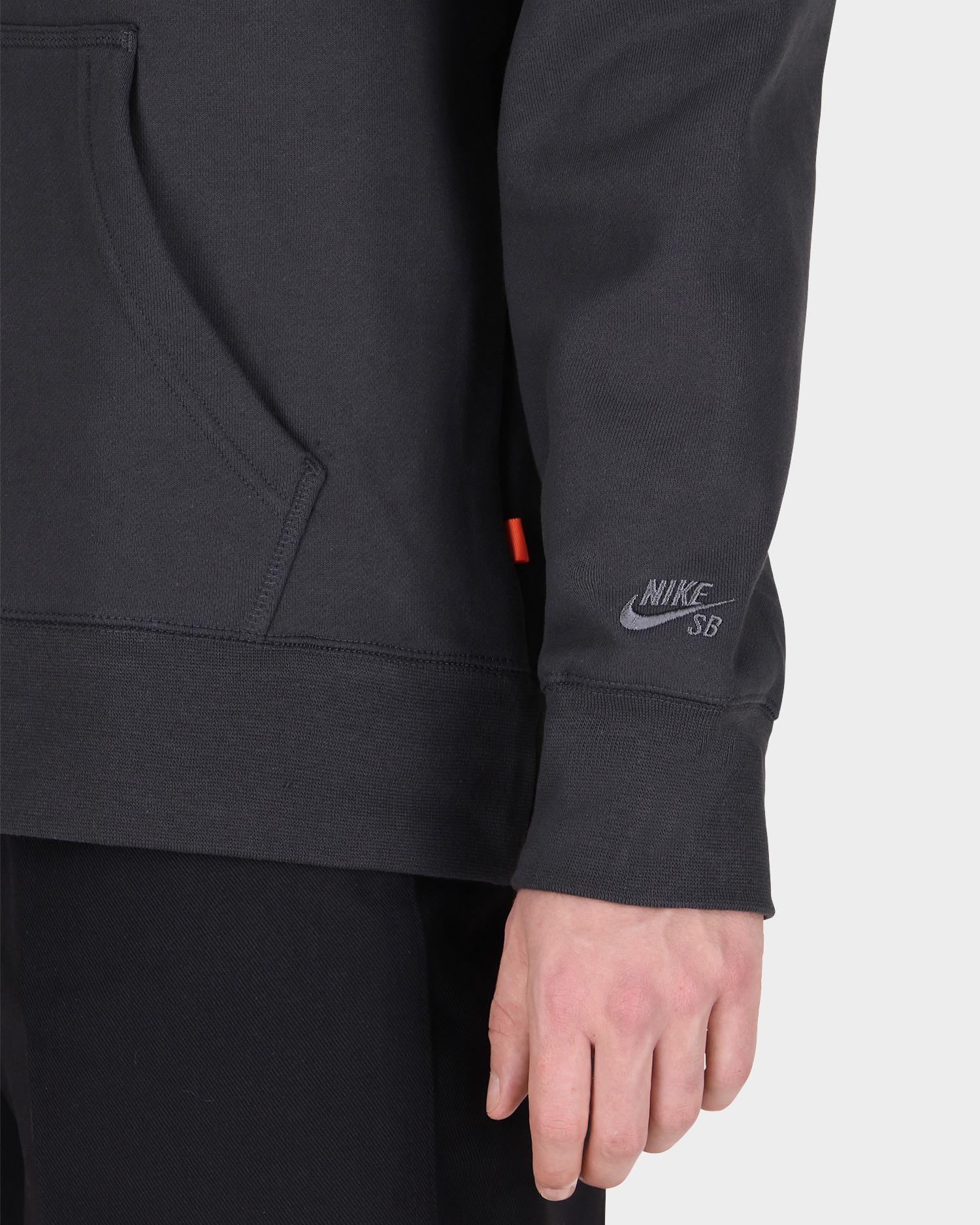 Nike Sb Orange Label Hoodie Dark Smoke Grey/Smoke Grey