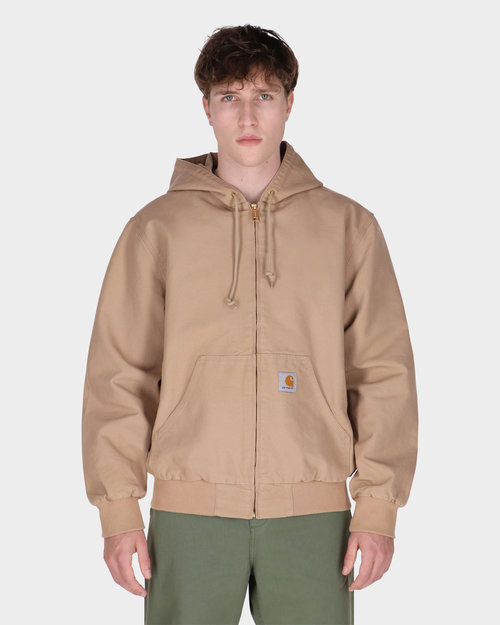 Carhartt Carhartt Active Jacket Cotton Dusty H Brown Rinsed