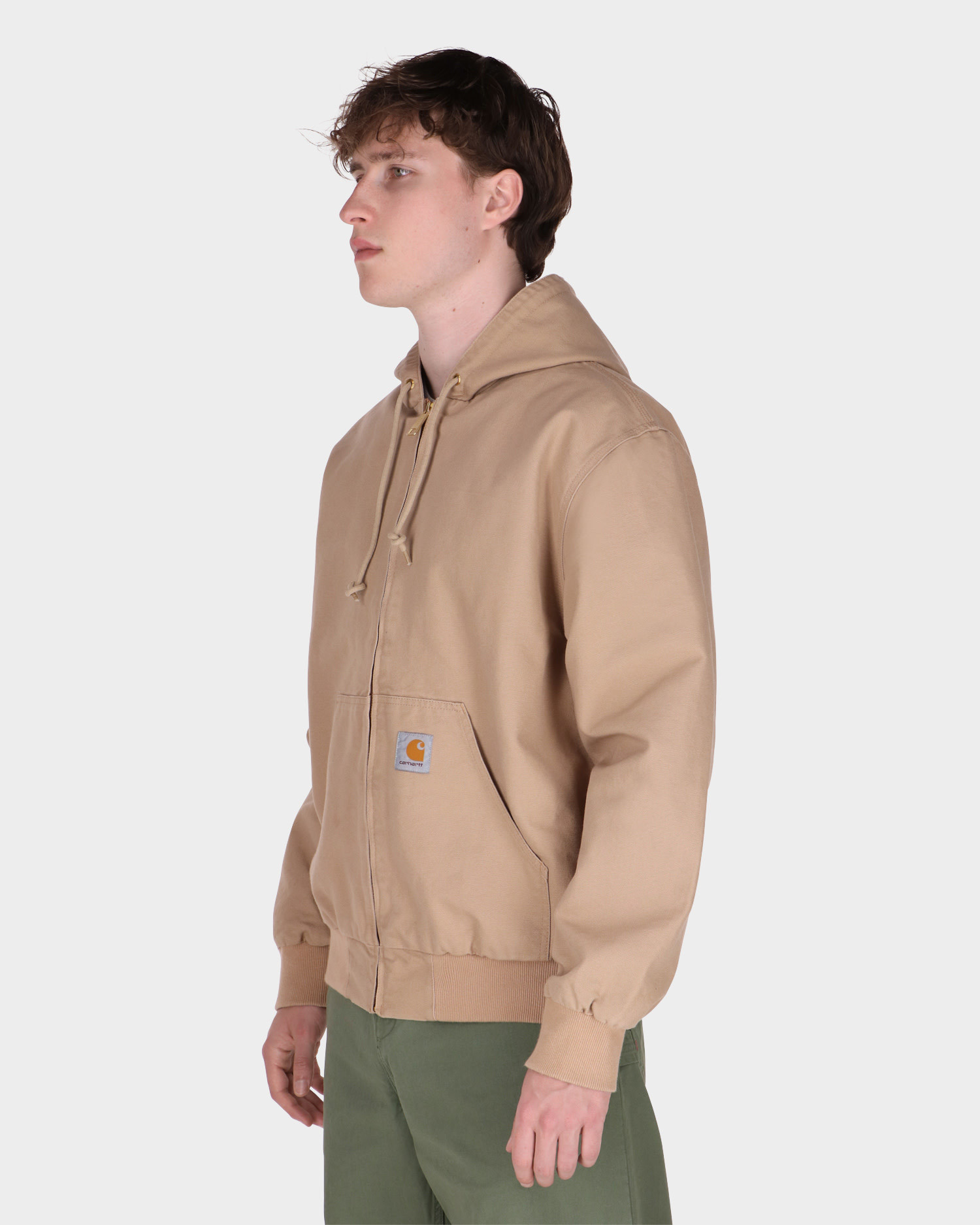 Carhartt Active Jacket Cotton Dusty H Brown Rinsed