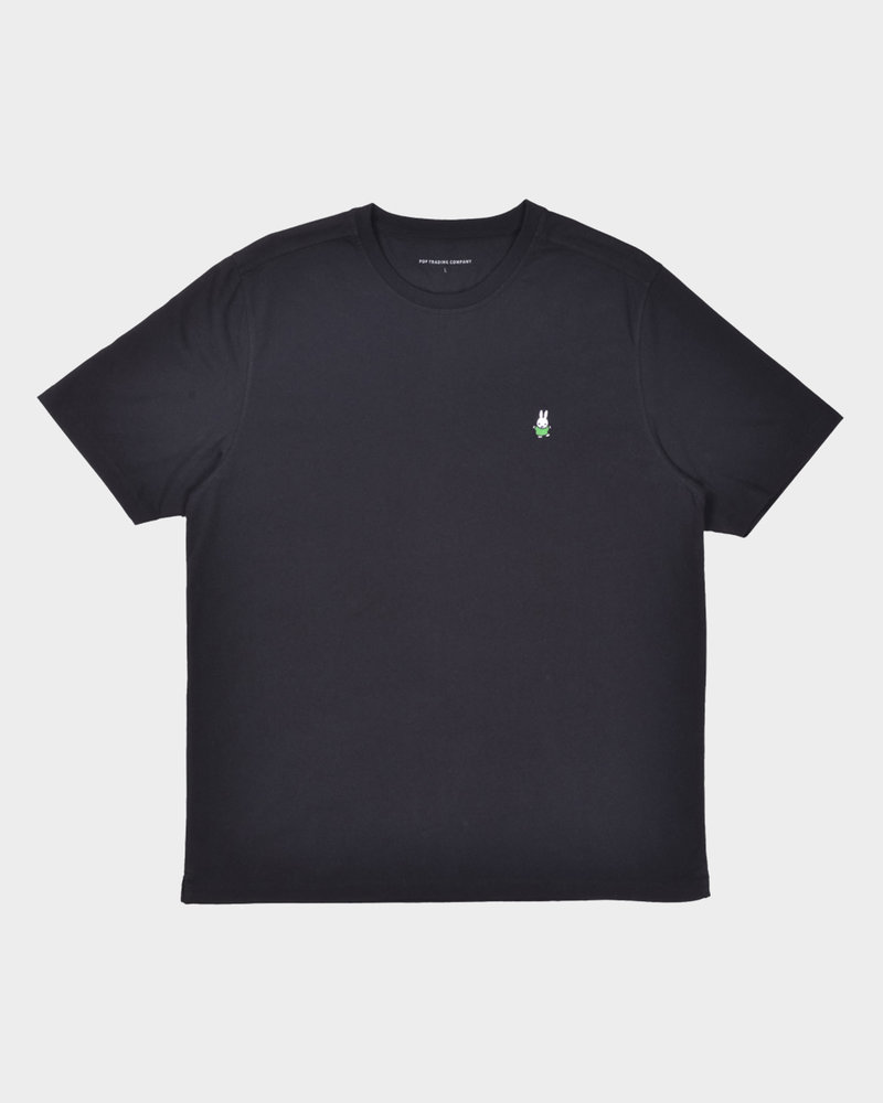 Pop Trading Co Pop Trading Co X Miffy Dancing Embroidery T-Shirt Black