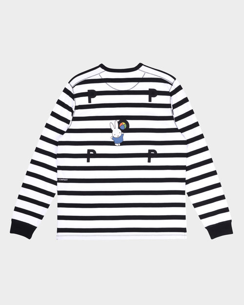 Pop Trading Co Pop Trading Co X Miffy Striped Longsleeve T-Shirt Black/White
