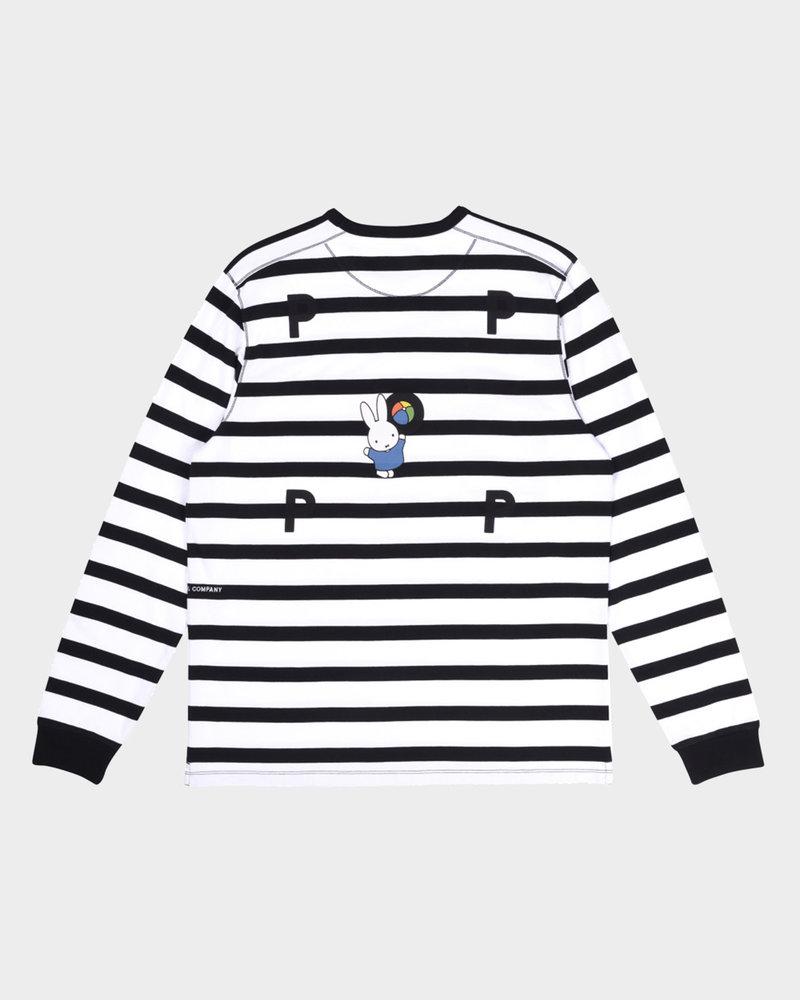 Pop Trading Co Pop Trading Co X Miffy Striped Longsleeve T-Shirt Black/White