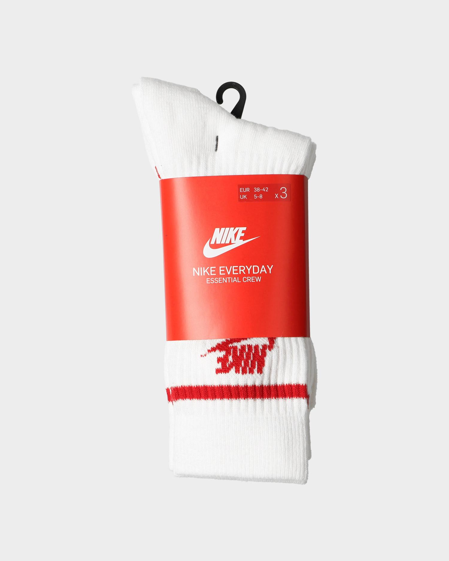 Nike crew Socks essential stripe White/university red/university red