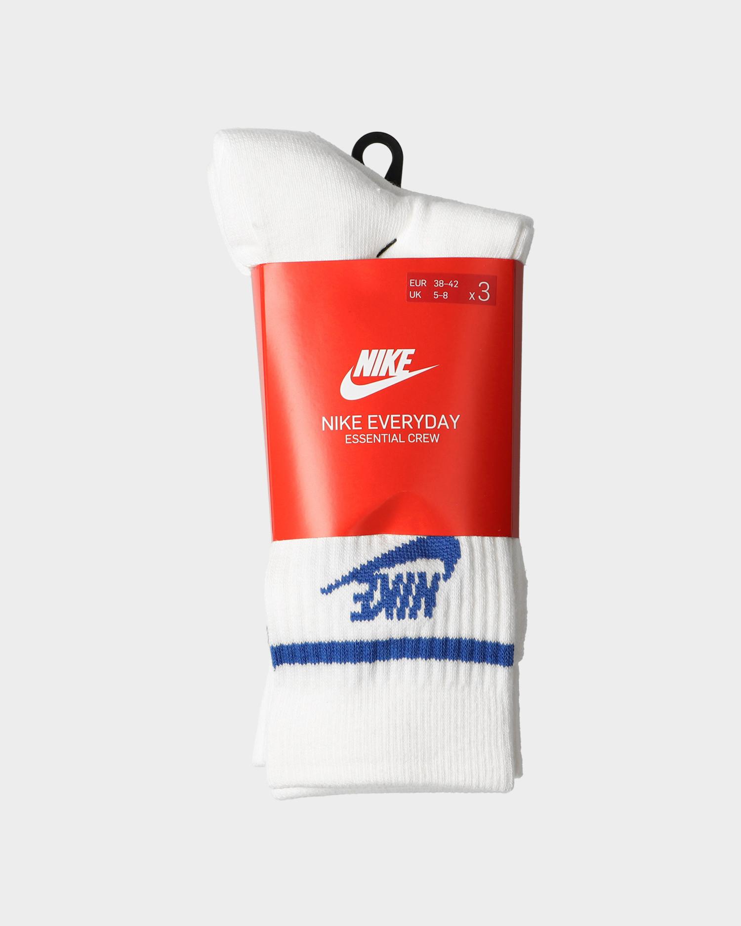 Nike crew Socks essential stripe White/game royal/game royal