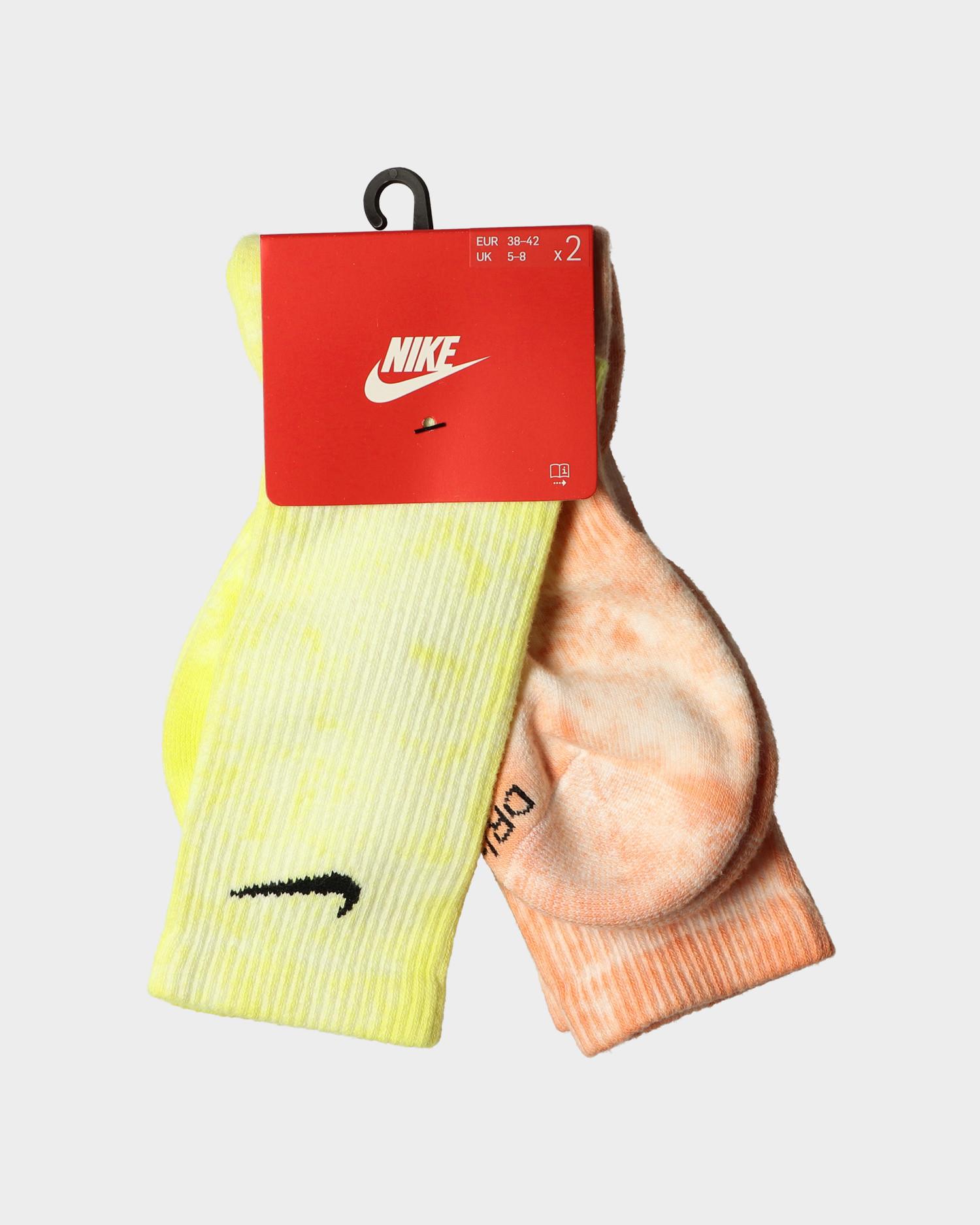 Nike Everyday Plus Socks Multi Color Yellow/Orange