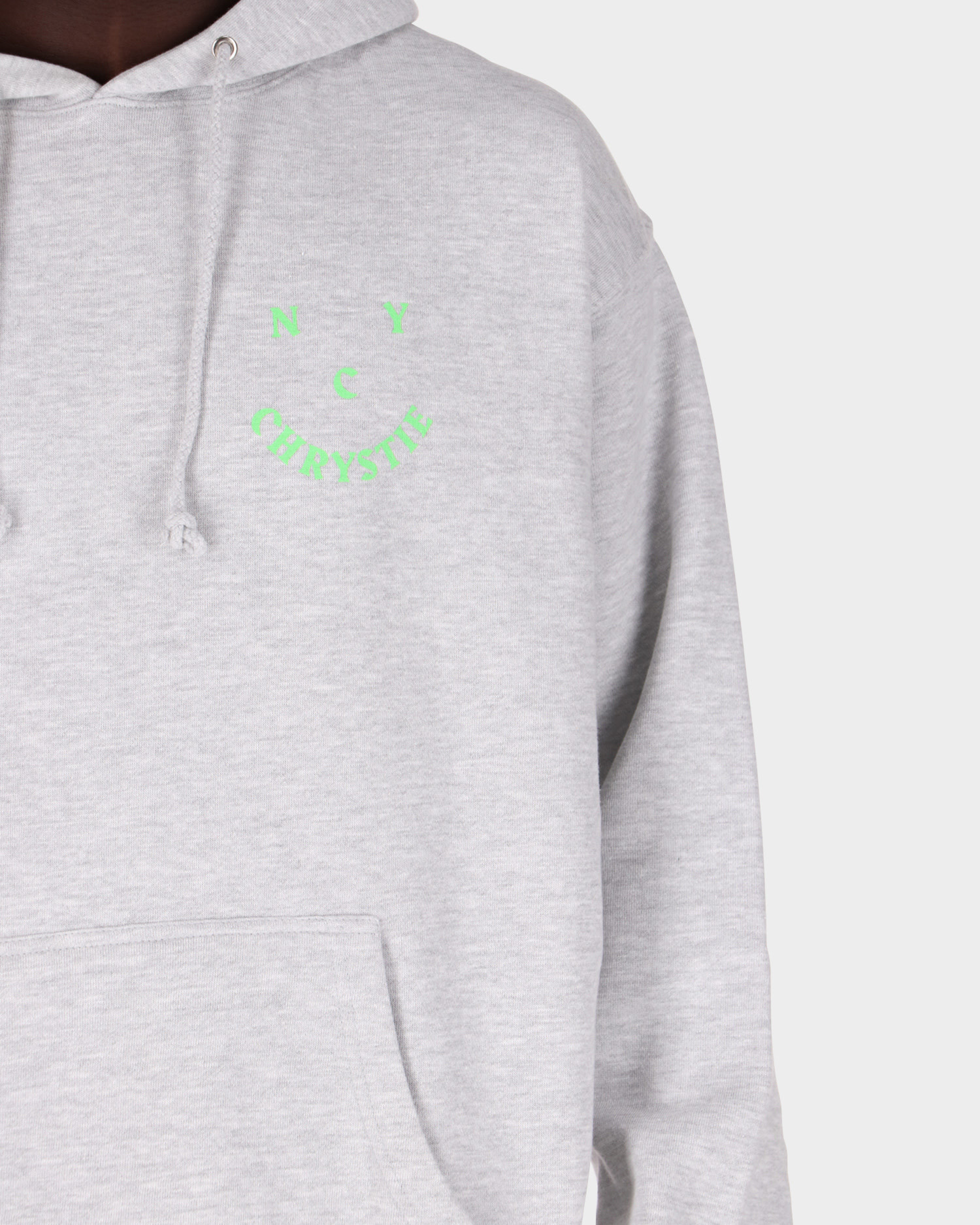 Chrystie NYC - Smile Logo Hoodieheather Grey heather grey
