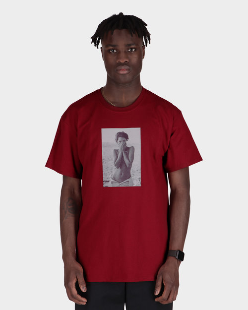 Chrystie Chrystie NYC - Turlington Photo T-shirtmaroon maroon