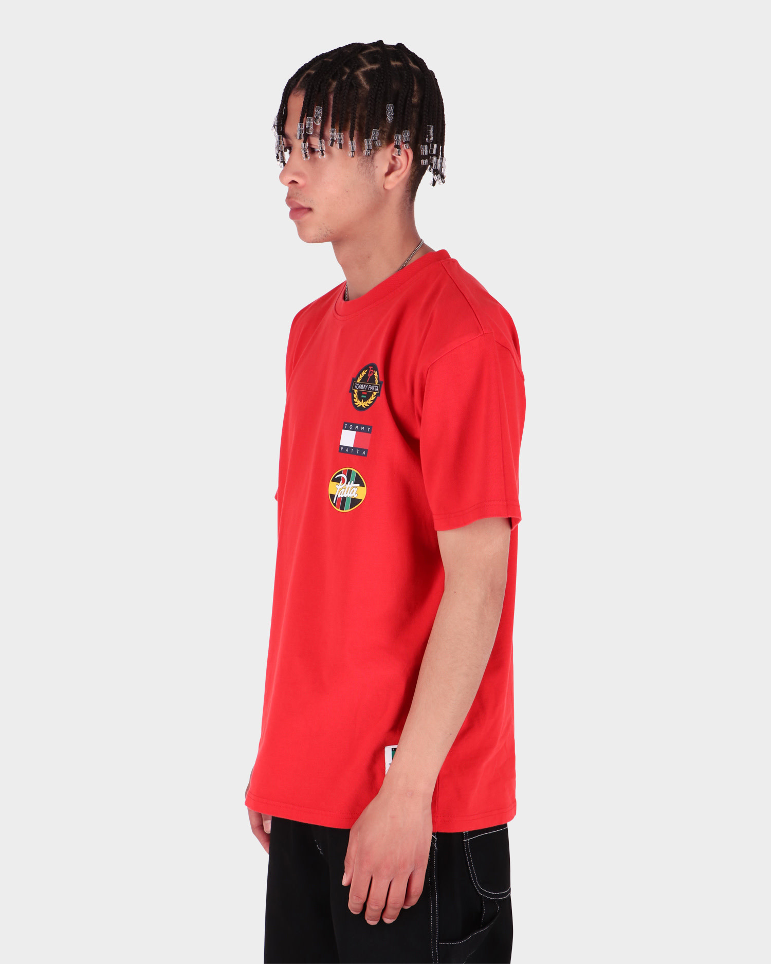 Patta x Tommy Flag Tee High Risk Red