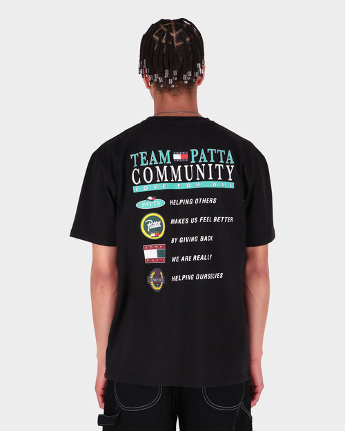 Patta Patta x Tommy Community Tee Black