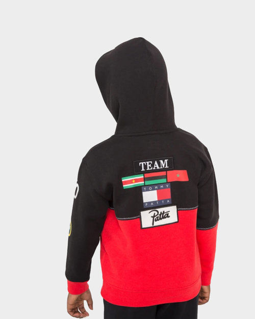 Patta Kids Patta x Tommy Hoodie Black/High Risk Red