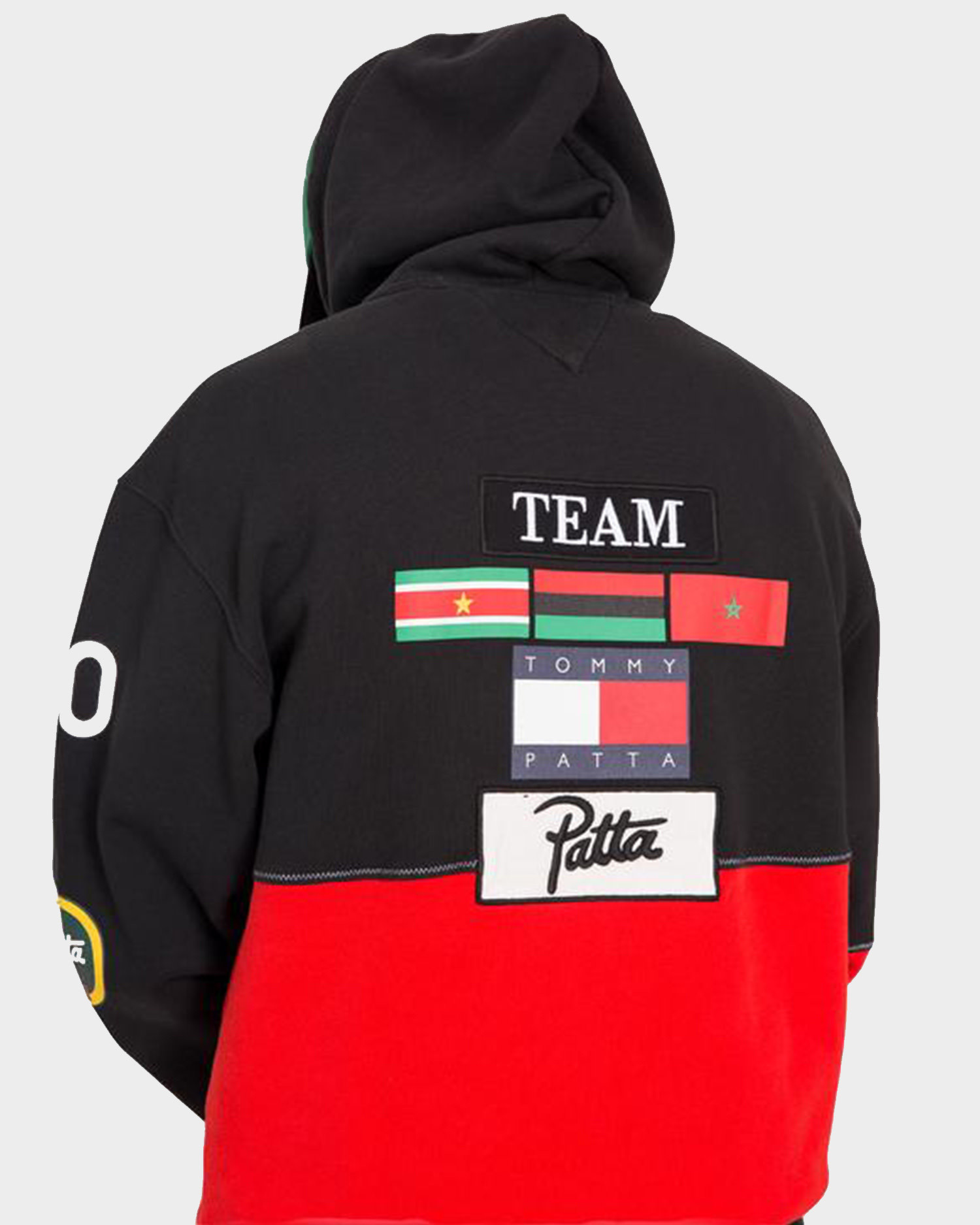 Patta x Tommy Hoodie Black/High Risk Red