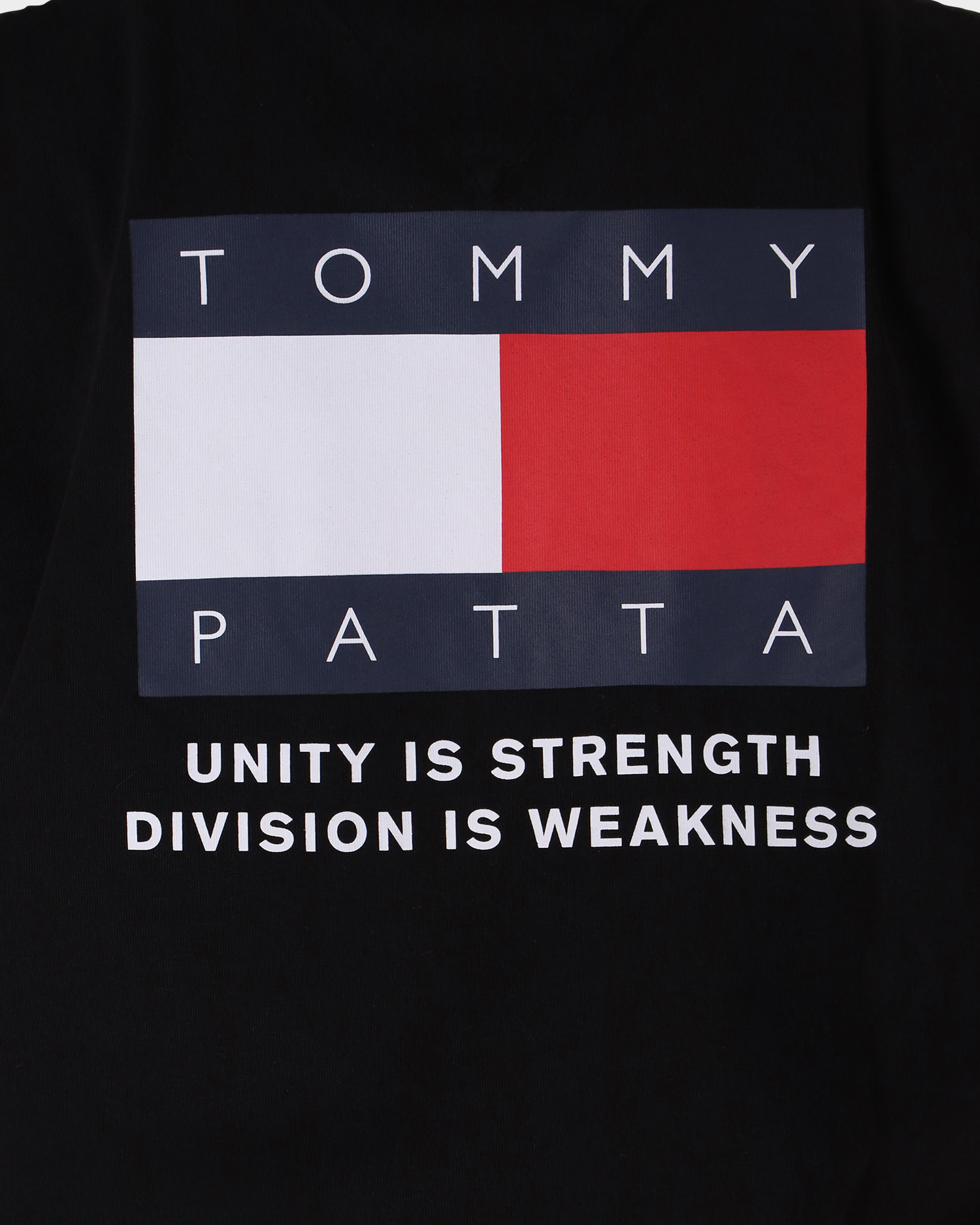 Patta x Tommy Flag Tee Black